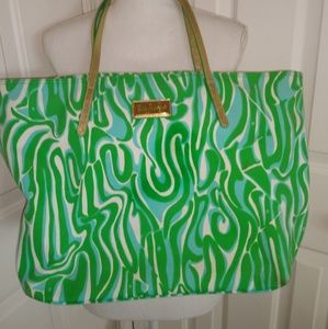 Lily Pulitzer blue/green large tote